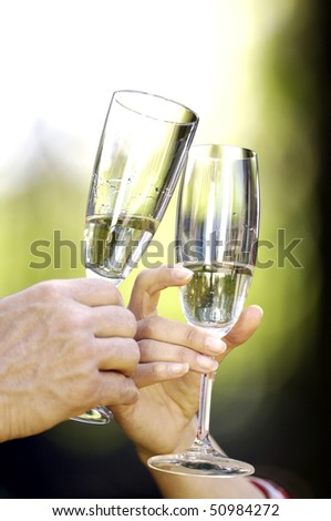 toasting - stock photo