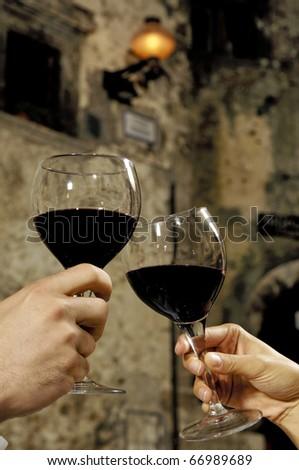 toasting - stock photo