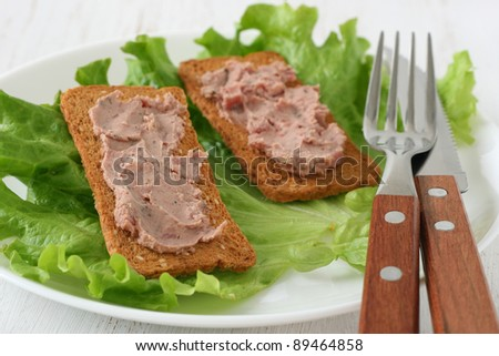 toasts with pate