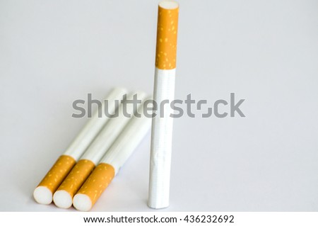 Tobacco Cigarettes Background or texture - stock photo