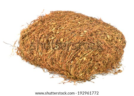 Tobacco leaves were dried, cut into small strips called line tobacco.