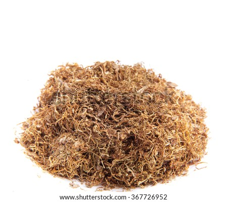 Tobacco on white  - stock photo