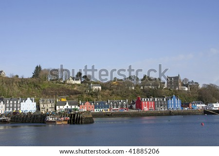 Tobermory a very colourful village on the Isle of Mull Scotland Uk