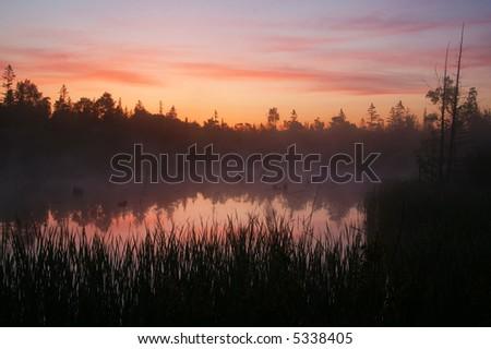 Tobermory Sunrise - stock photo