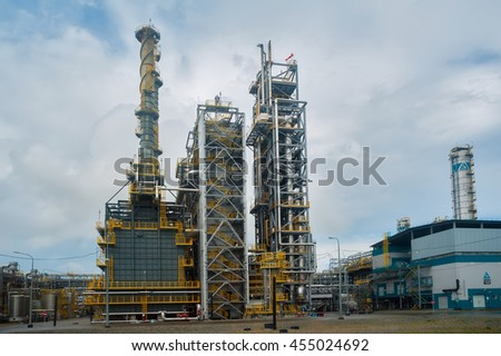 Tobolsk, Russia - July 15. 2016: Sibur company. Polymer plant. Gas-chemical complex on polypropylene production - stock photo