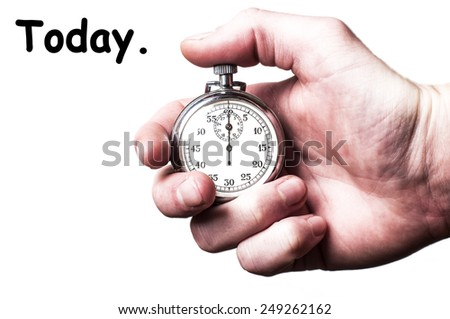Today. - stock photo