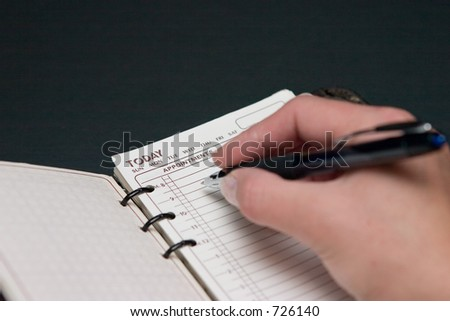 Today planner - stock photo