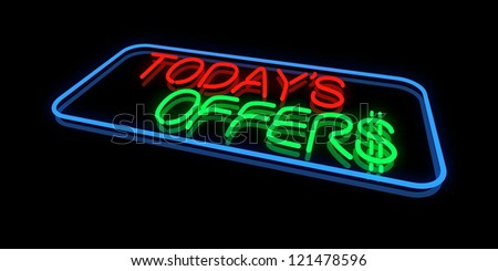 Today's Offers - stock photo