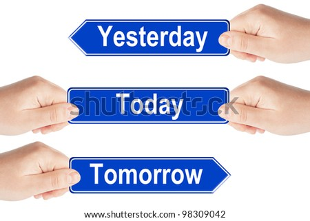 Yesterday Today And Tomorrow Sign images