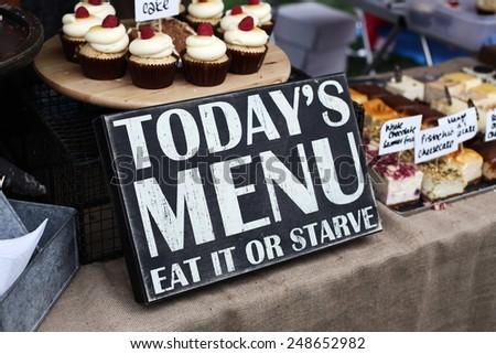 todays menu eat - stock photo