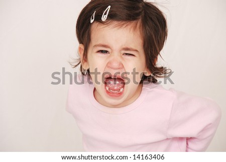toddler crying - stock photo