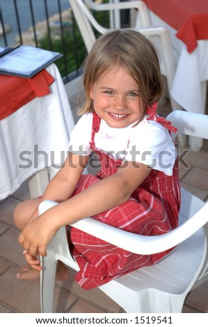 Toddler smile - stock photo
