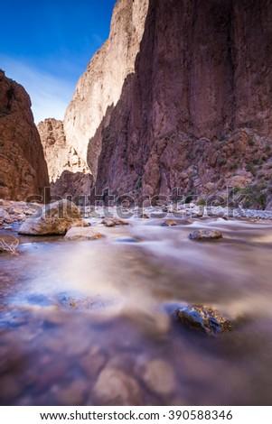 Todra Gorge, Morocco - stock photo