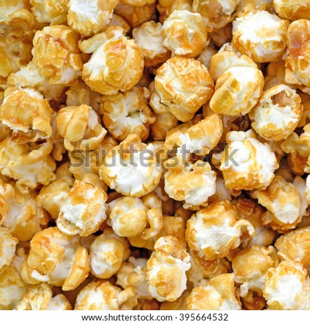 Toffee Pop Corn - stock photo