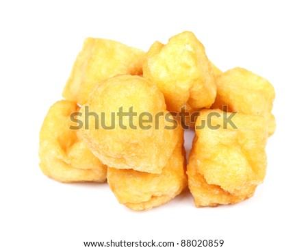 Tofu Puff on white - stock photo
