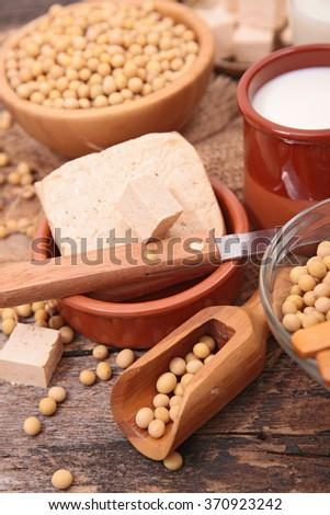 tofu,soybean,vegetarian food - stock photo