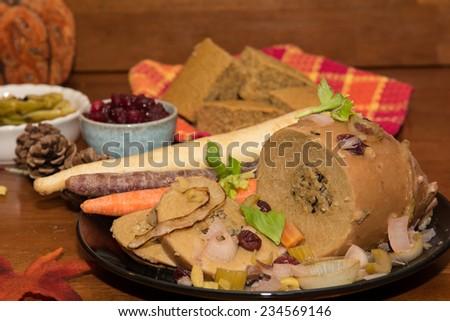 Tofu Turkey Dinner - stock photo