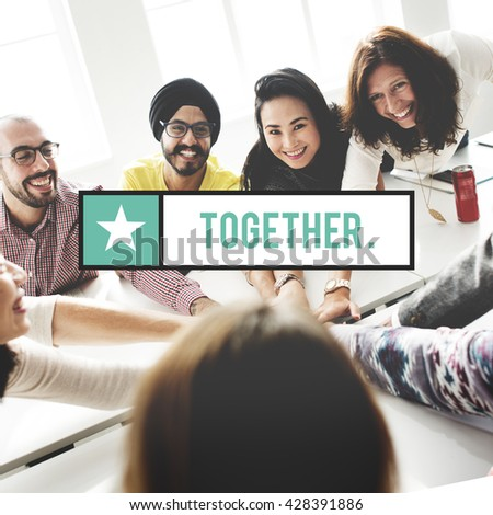 Together Community Friend Family Society Unity Concept - stock photo