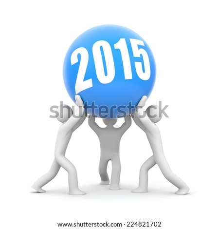 Together in New Year - stock photo