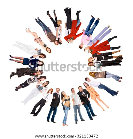 Together we Stand Business Idea  - stock photo
