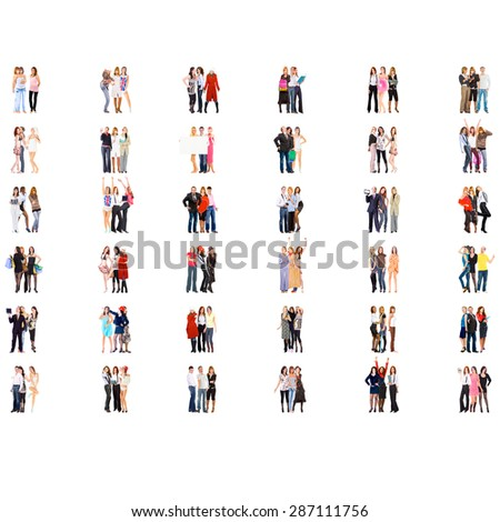 Together we Stand Business Picture  - stock photo