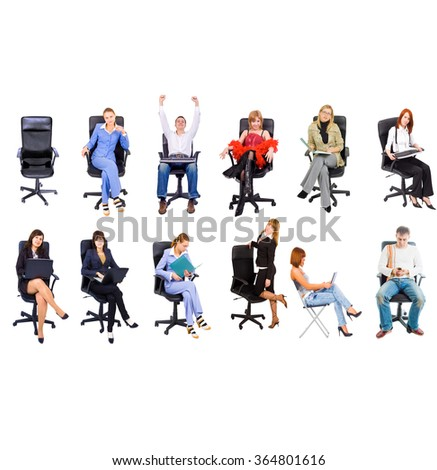 Together we Stand Clerks Compilation  - stock photo