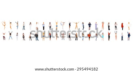Together we Stand United Colleagues  - stock photo