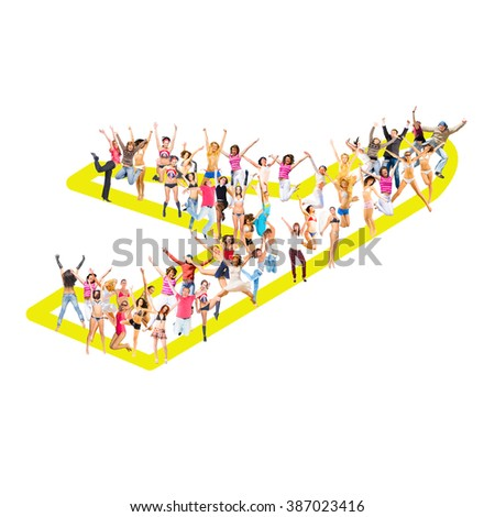 Together we Stand United Company  - stock photo