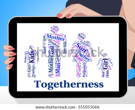 Togetherness Family Representing Close Knit And Families - stock photo