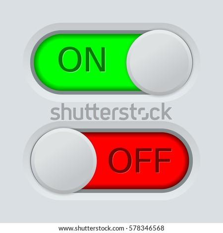 Toggle Switch On Off On Light Stock Illustration 578346568