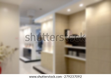 Toilet and bathroom blurred - stock photo