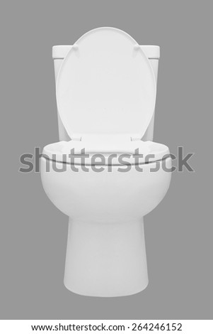 toilet bowl isolated on gray background - stock photo