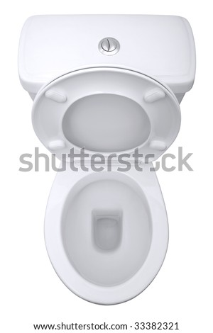 Toilet from above, isolated on a white background with clipping path. - stock photo
