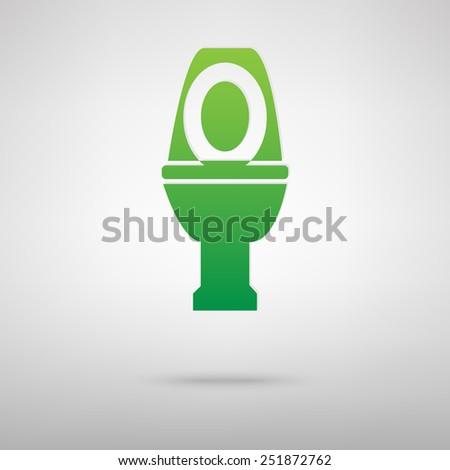 Toilet Icon - stock photo