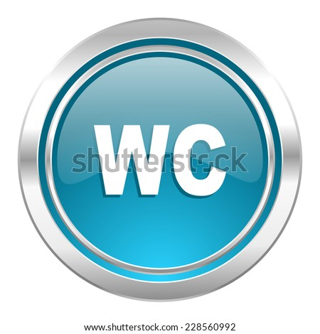toilet icon, wc sign  - stock photo
