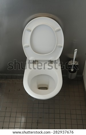 Toilet in a public building - stock photo