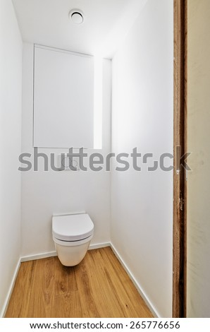 Toilet in newly converted house  - stock photo