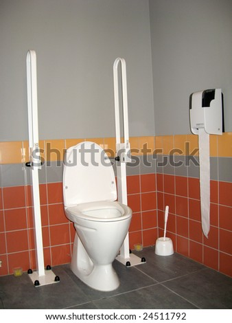 Toilet, made specially for disabled person use