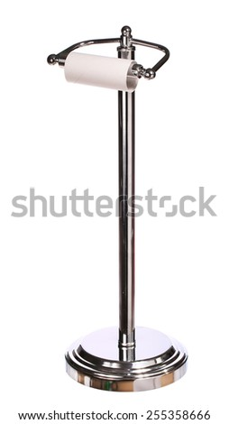 toilet paper holder standing isolated on white background