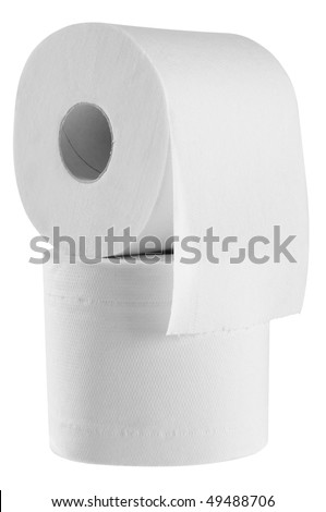 Toilet paper. Isolated - stock photo