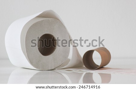 toilet paper rol - stock photo