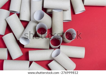 toilet paper rolls - stock photo