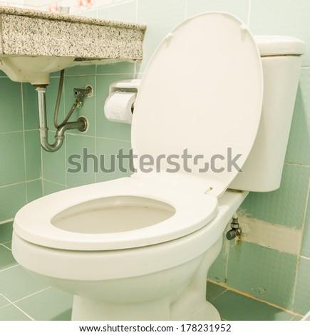 Toilet seat - stock photo