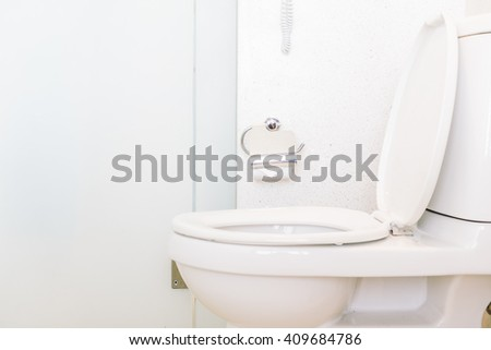 Toilet seat decoration in toilet room interior - Vintage light Filter