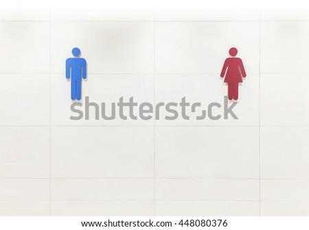 Toilet sign - stock photo