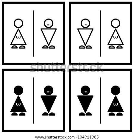 Toilet Sign Geometry Figure Text Symbol Stock Illustration 104911985