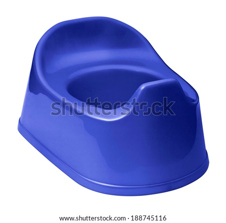 Toilet training potty used by small children - stock photo
