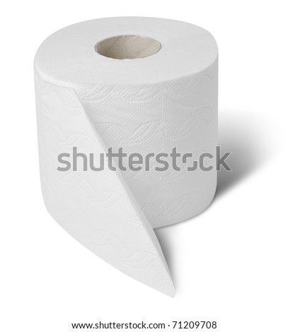 Toilet wc paper roll - stock photo