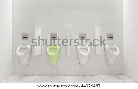 toilets for the green people - stock photo