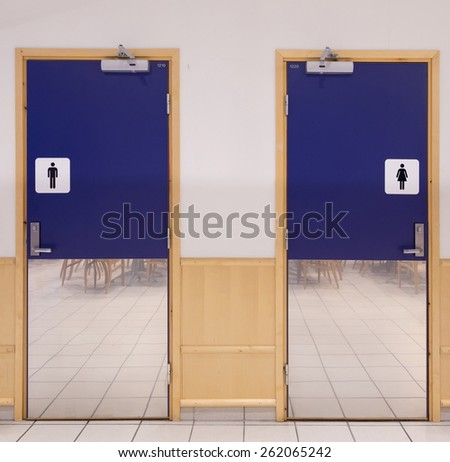 toilette entrance - stock photo